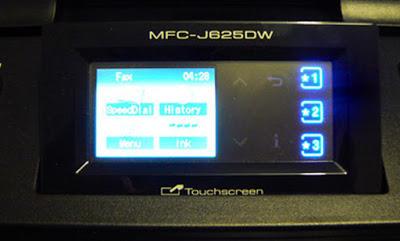 Printer Brother dengan layar monitor untuk pengaturan