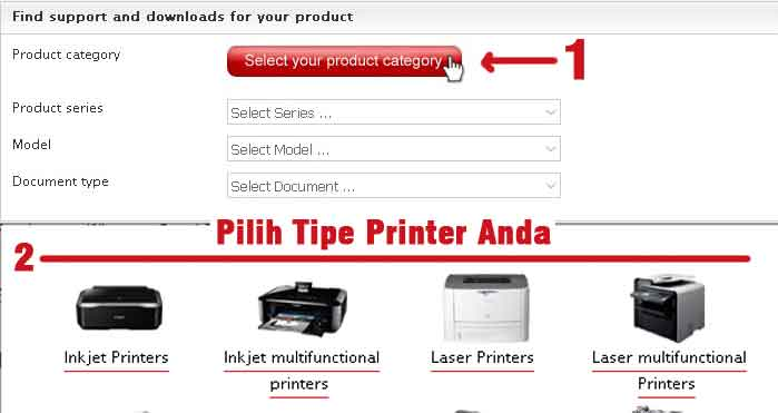 cara mudah download driver printer canon