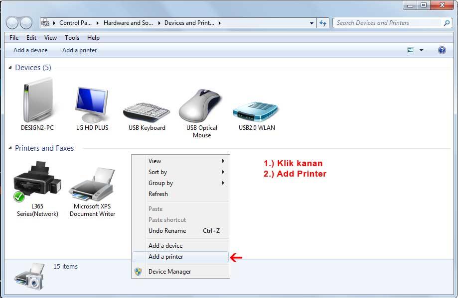 Cara Add Printer dari sharing komputer lain