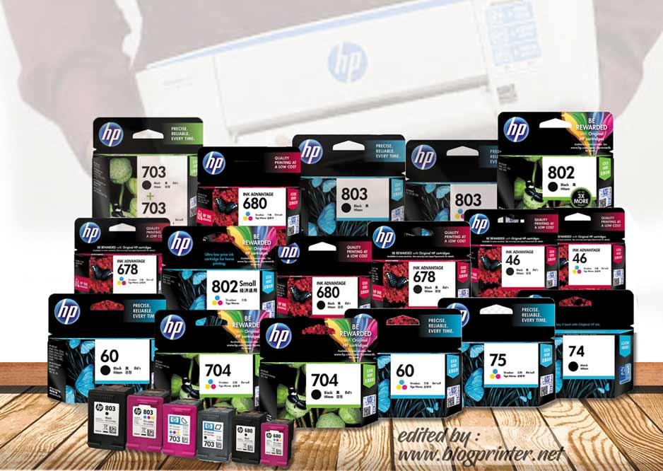 Daftar Harga Tinta dan Catridge Printer HP Terbaru Lengkap 2018