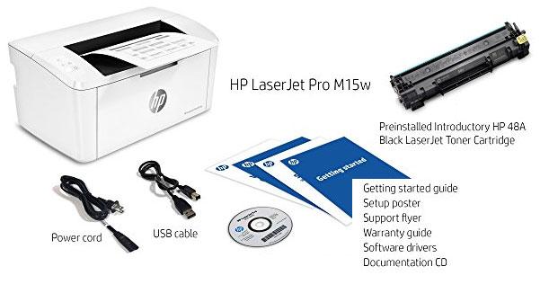 Isi yang dapat ketika membeli Printer-HP-Laserjet-Pro-M15w-Wireless