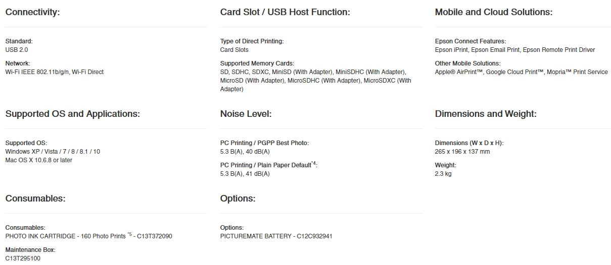 Spesifikasi lengkap dan harga printer epson Picture Mate 520