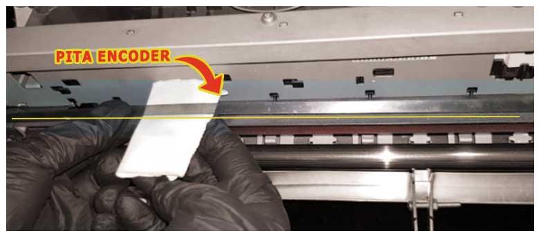 contoh bagian pita encoder pada printer